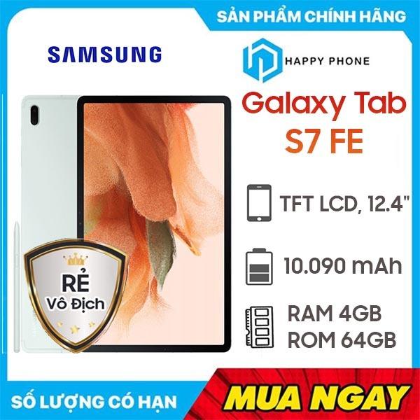 Máy tính bảng Samsung Galaxy Tab S7 FE (4GB/64GB) - Hàng chính hãng, Mới 100%, Nguyên Seal | Bảo hành 12 tháng chính hãng