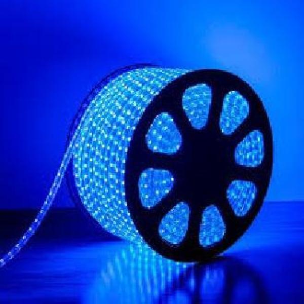 Bộ 20m đèn Led dây 5050/220V màu xanh dương + 1 đầu nối dây nguồn