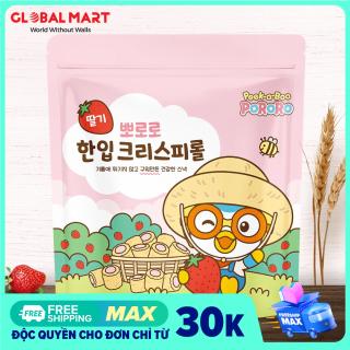 Bánh Ăn Dặm Cho Bé PORORO Cuộn Giòn Vị Dâu Nhập Khẩu Hàn Quốc Túi 60 Gram thumbnail