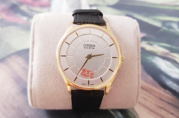 Nơi bán Đồng hồ thời trang nam CITIZENNO79 2 Kim Dây Da - Size 38 mm