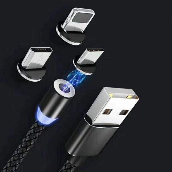 Bảng giá [Full Set 3 đầu sạc] Cáp sạc từ nam châm 3 đầu iPhone, Micro USB và TYPE-C 360 độ Dây Dù Siêu Bền Phong Vũ