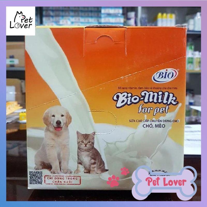 [FREESHIP] Sữa Bột Cung Cấp Vitamin Đạm Béo Và Khoáng Cho Chó Mèo Bio Milk For Pet 100g - Petlover-