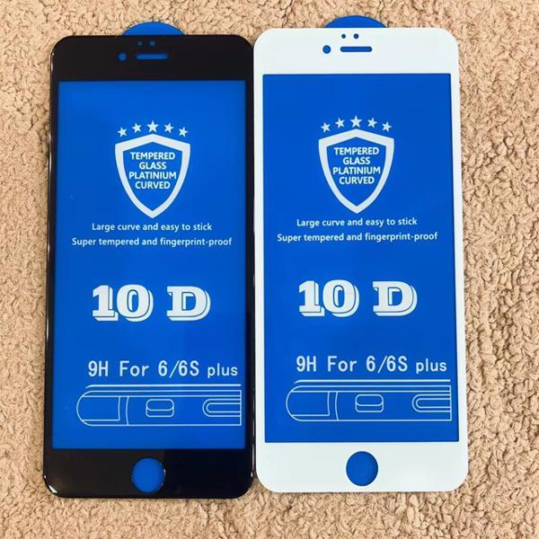 Kính Cường Lực Iphone 10D Full Màn Hình Dành Cho Iphone [6/6S 6Plus/6splus 7/8 7plus/8plus X/Xs Xsmax] độ Cứng 9H+ Siêu Bền - 2 Màu đen, Trắng Giá Tốt Nhất Thị Trường