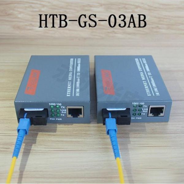 Bảng giá Thiết Bị Chuyển Đổi Quang Điện 1 Sợi Media Converter 1FO 1 Quang 1 LAN 1Gbps Netlink HTB-GS-03AB Phong Vũ
