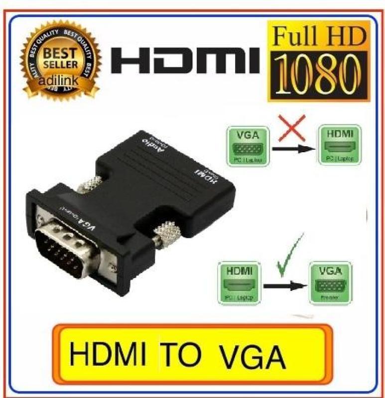 Bảng giá Đầu chuyển đổi HDMI đầu âm  sang Vga đầu dương có âm thanh ( đen ) Phong Vũ