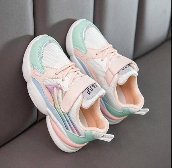 Giá bán Giày thể thao sneaker bé gái hàn quốc 3 đến 13 tuổi - TG088