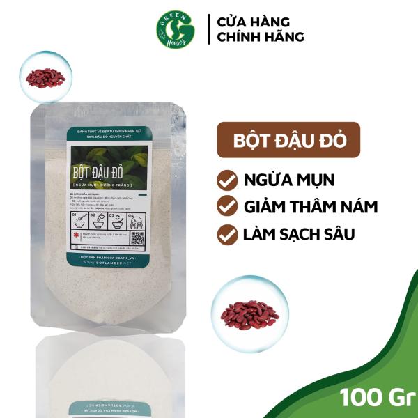 [HCM]Bột Đậu Đỏ Dưỡng Da Trắng Mịn ngăn ngừa mụn hiệu quả 100gr - Bột handmade - B1.003