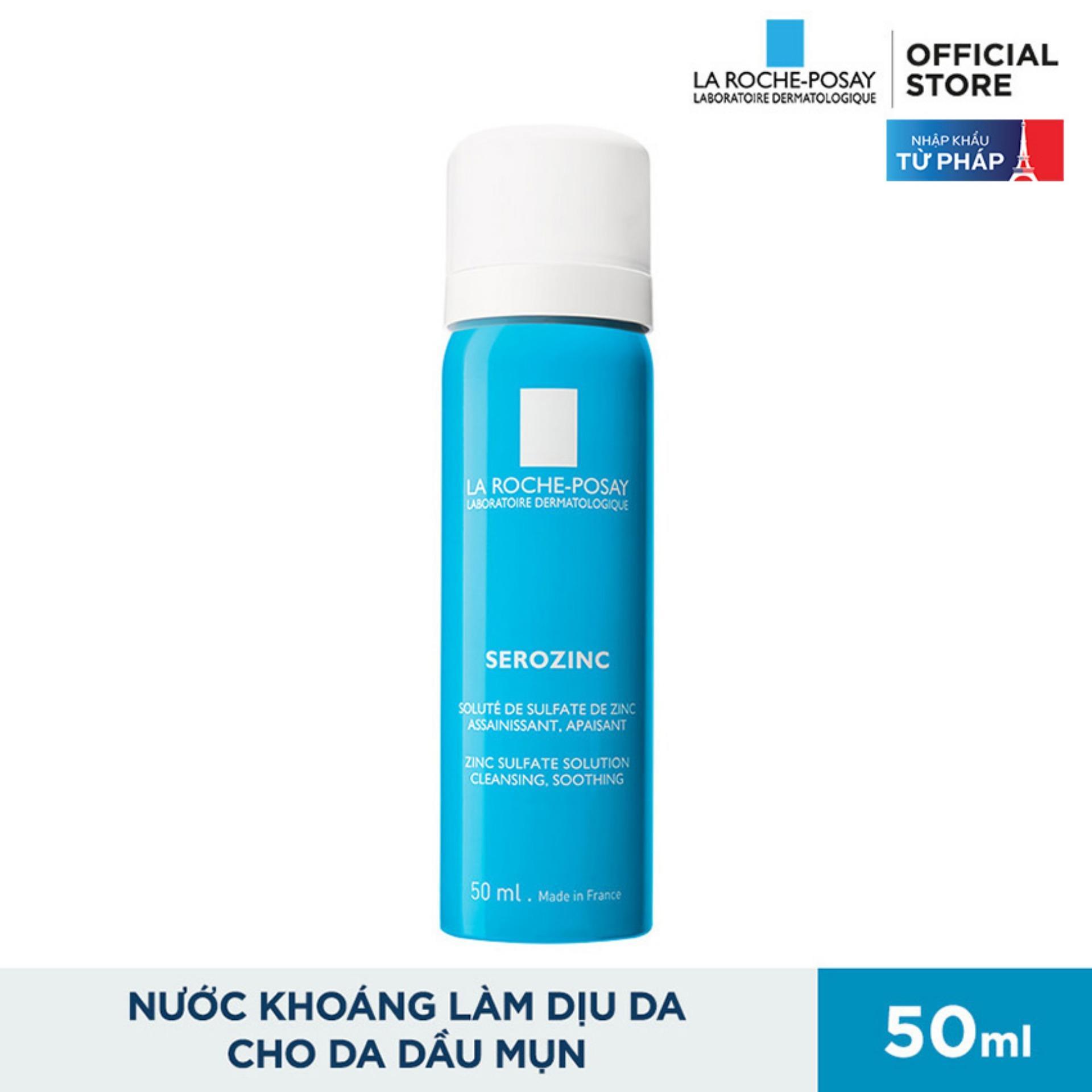 Xịt khoáng giúp làm sạch và dịu da La Roche Posay Serozinc 50ML tốt nhất
