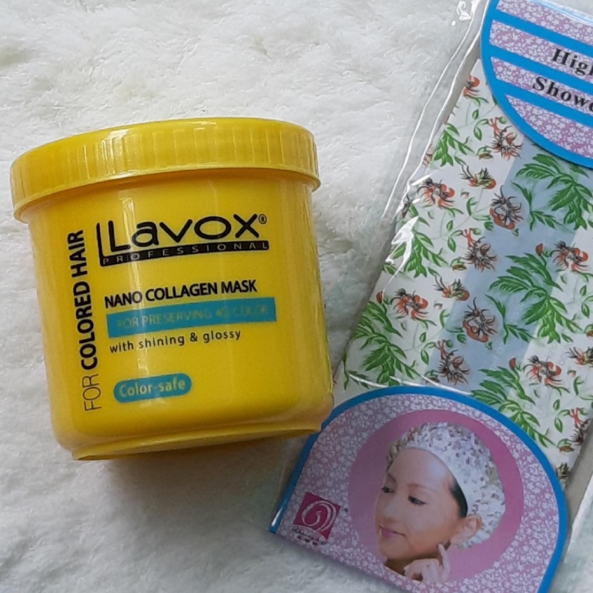 Hấp dầu Ủ Tóc giữ màu nhuộm 04 D Tinh chất Nano Collagen Lavox 500ml  (tặng nón trùm tóc)