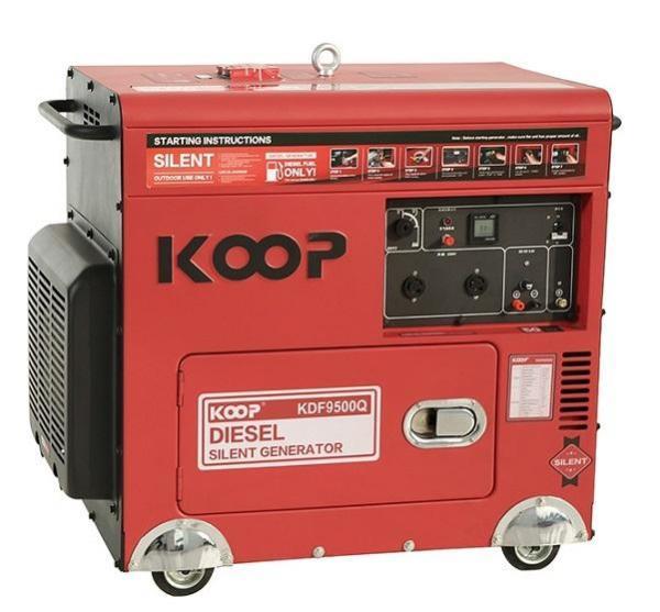 Máy Phát Điện Chạy Dầu 7kVA Koop KDF9500Q
