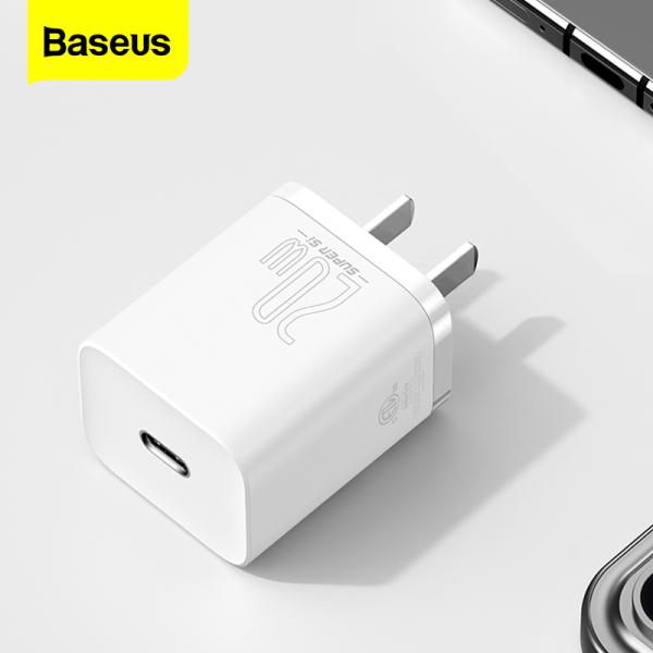 [Bộ sạc PD 20W] Bộ sạc Baseus Super Si USB C 20W / 30W Hỗ trợ loại C PD Sạc nhanh Bộ sạc điện thoại di động cho iPhone 12 Pro Max 11 Mini 8 Plus