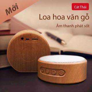 Loa bluetooth mini A60 (màu trắng) Cát Thái hỗ trợ khe thẻ nhớ TF, cổng sạc USB hoa văn gỗ cực thanh lịch nhỏ gọn dễ mang âm thanh rõ ràng thumbnail