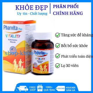 Vitamin tổng hợp Pharvita Plus Cam bồi bổ cơ thể, tăng sức đề kháng Chai 30 viên thumbnail