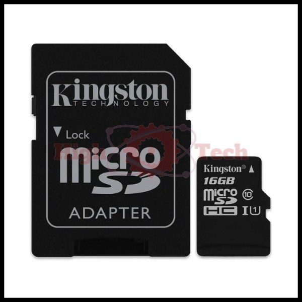 Thẻ nhớ micro SDHC Kingston 16GB Class 10 kèm Adapter
