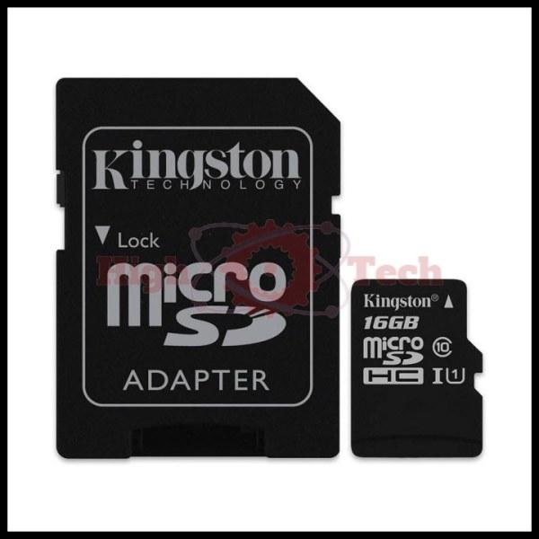 Thẻ nhớ micro SDHC Kingston 16GB Class 10 kèm Adapter