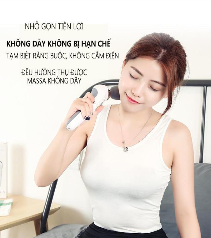 máy massage mini đa năng tay cẩm, rung động massage cơ bắp toàn thân