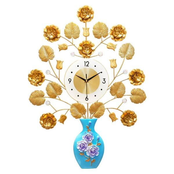 Nơi bán Đồng hồ treo tường hình bình hoa vàng Lian552