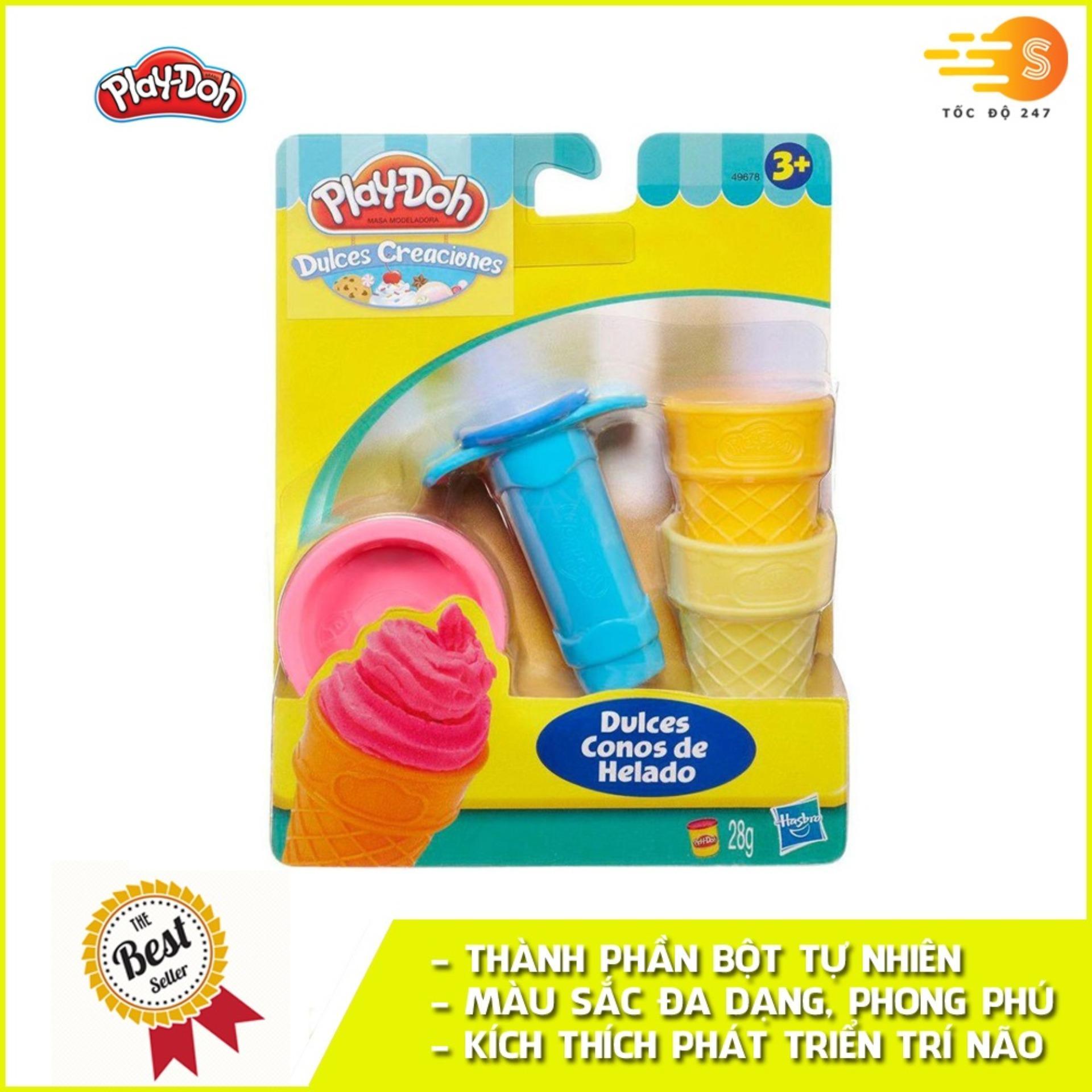 Bộ Bột Nặn Tạo Hình Làm Kem Mini Play-Doh 49654 Giá Quá Ưu Đãi