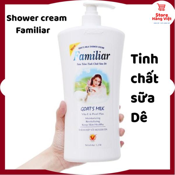 Sữa tắm Familiar Goats Milk 1.200ml tinh chất sữa dê nguyên chất - Mỹ phẩm store hàng việt giá rẻ