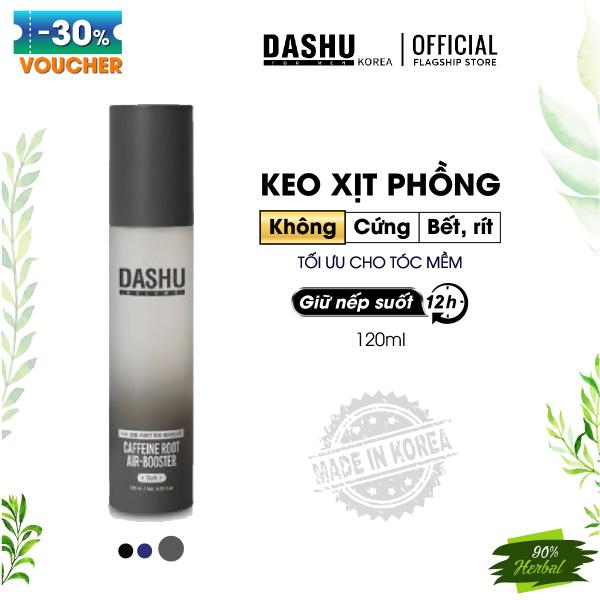 Keo xịt tóc Nam/Nữ tạo kiểu dùng cho tóc mỏng, tóc dài Dash Volume Caffeine Root Air Booster 120ml (Soft), keo vuốt tóc, làm phồng tóc triết xuất từ 14 loại thảo dược nuôi dưỡng nang tóc, giúp tóc khỏe mạnh và dầy hơn.