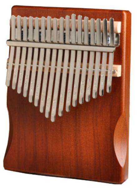 Đàn kalimba 17 phím gỗ nguyên khối tặng stick màu CÓ SẴN