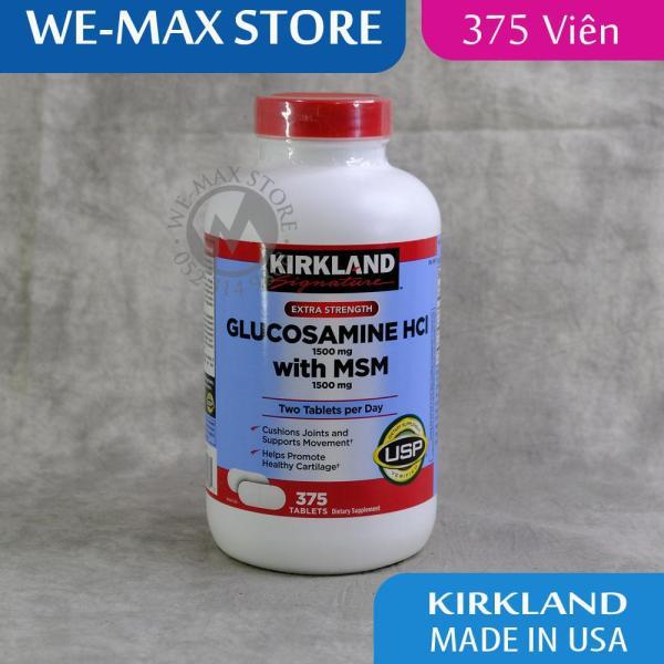 [375 viên] Glucosamine HCL 1500mg Kirkland With MSM 1500mg - Chống thoái hóa xương khớp - WE-MAX STORE giá rẻ