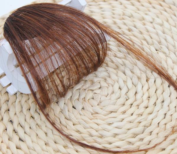 (nâu vàng) Tóc Giả Mái Thưa (3 màu) có mai thẳng (NÂU vàng)