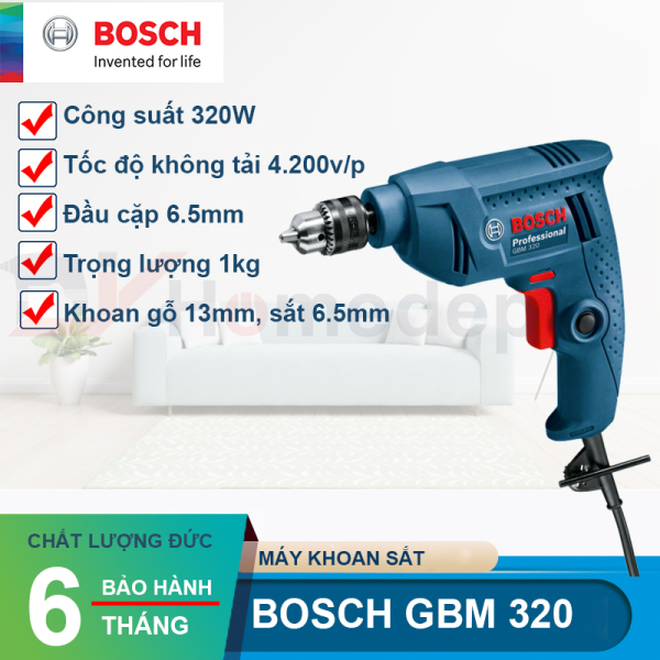 Máy khoan Bosch GBM 320, Máy bắn vít Bosch 320 .( Cam kết Hàng Chính Hãng) Bảo hành trên hệ thông toàn quốc theo mã máy.