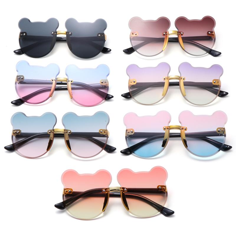 Giá bán COMEUPSTORE14E5 for Boys Girls UV400 Party Beach Cartoon Bear Eyewear Children Rimless Sun Glasses Kids Sunglasses