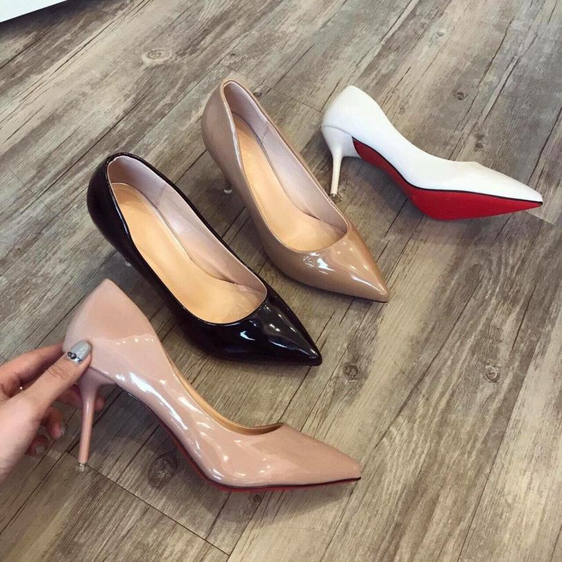 [SenXanh] Giày cao gót da bóng trơn - 7P giá rẻ