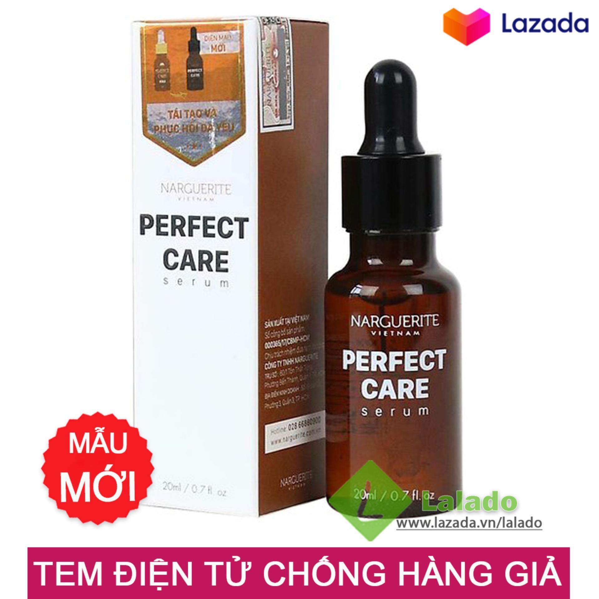 Serum ốc sên dưỡng trắng da tái tạo ban đêm Perfect Care Narguerite 20ml - Mẫu mới chính hãng