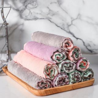 Khăn bông 2 mặt đa năng lau sạch nhiều bề mặt và chất liệu - Khăn lau nhà bếp khăn bông bỏ túi tiện lợi thumbnail