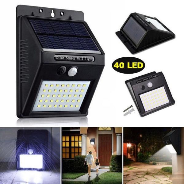 Đèn năng lượng mặt trời solar 40 LED - Solar led Siêu sáng Cảm biến Ánh sáng và Chuyển động