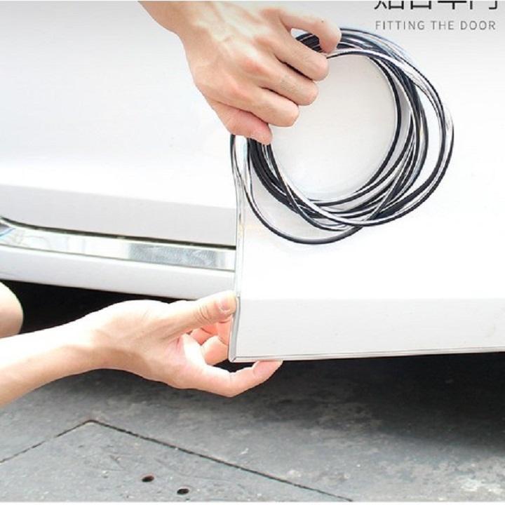 Nẹp viền cửa ô tô mạ crom kiểu dáng chữ u Nhật Bản