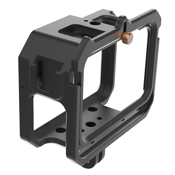 Housing Frame Case for GoPro Hero 9,Vlog Aluminum Alloy Shell Case Protective Cage for GoPro Hero 9 Sport Cameras Black