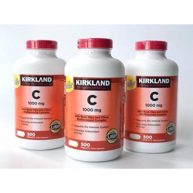 Viên uống Vitamin C 1000mg Kirkland Hộp 500 Viên chính hãng