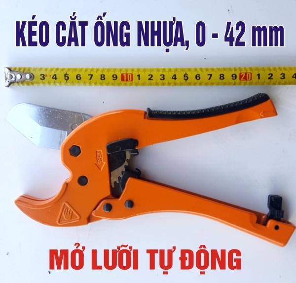 Kéo, kìm cắt ống nước nhựa, chất lượng, có nút mở lưỡi dao