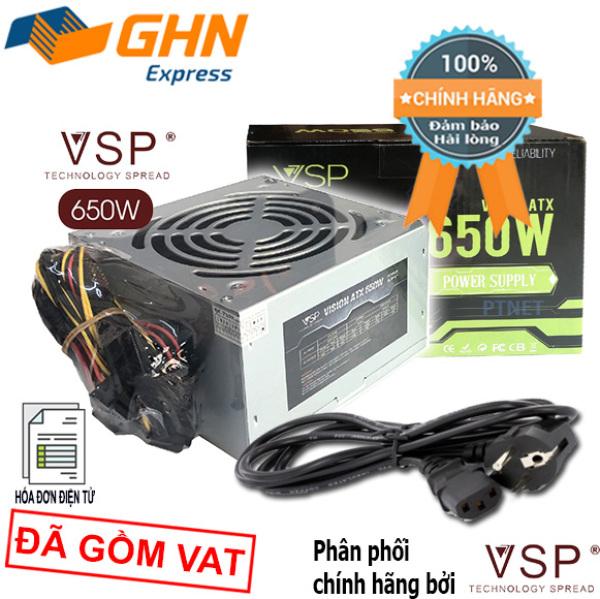 Giá Bộ nguồn cao cấp VSP 650W fan 12cm, dùng cho PC văn phòng, giải trí, game (Màu bạc)