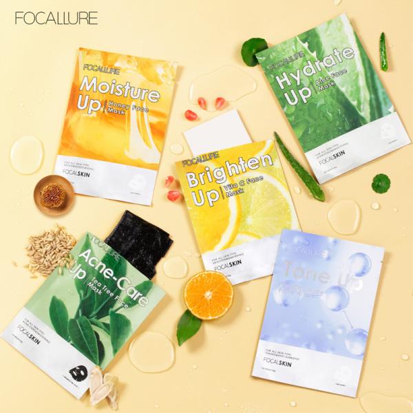 FOCALLURE 01 Mặt nạ tinh chất tự nhiên chăm sóc da giúp dưỡng ẩm và làm trắng có trọng lượng 25g - INTL nhập khẩu