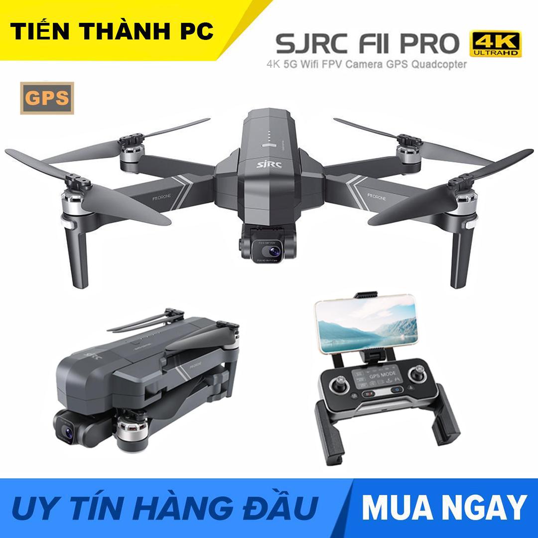 [ MỚI 2020 KÈM BALO ] Flycam SJRC F11 PRO  Camera 4k Gimbal trống rung 2 Trục bản nâng cấp của SJRC F11 PRO - Camera 4K - Bay 25 Phút - 2 GPS
