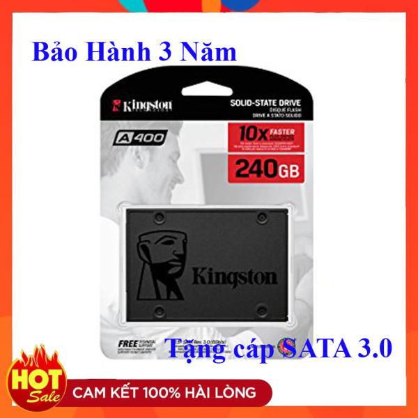 Giá Ổ cứng SSD Kingston 240GB 120GB A400 SATA III Tem Vĩnh Xuân/FPT/Viết Sơn - Tặng cáp sata