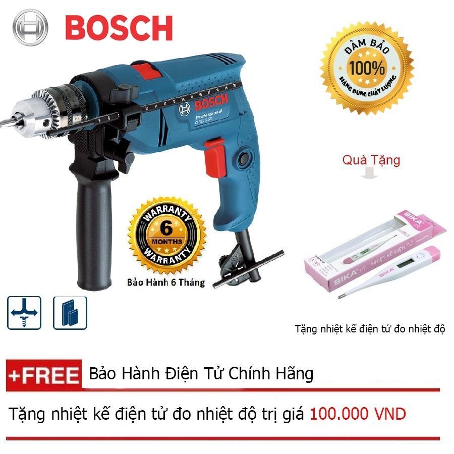 Bộ Máy khoan động lực Bosch GSB 550 (Hộp Giấy) + Quà tặng nhiệt kế điện tử