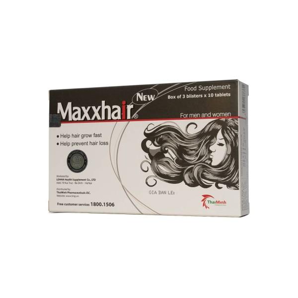 Giúp nhanh mọc tóc, ngăn ngừa rụng tóc MAXXHAIR 30 Viên giá rẻ