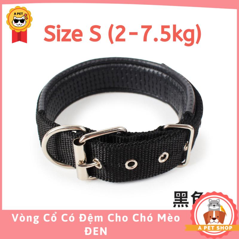 Vòng Cổ Có Đệm Cho Chó Mèo (Nhiều Màu+Size) - A Pet Shop