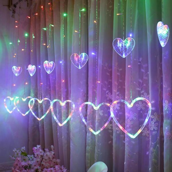 Bộ đèn led nhấp nháy trang trí hình trái tim siêu đẹp trang trí noel, ngày lễ, ngày tết GDTUAN02