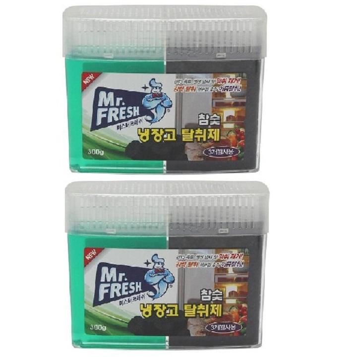 Bộ 2 Gel khử mùi tủ lạnh than hoạt tính Mr Fresh - Korea 300g GSG424
