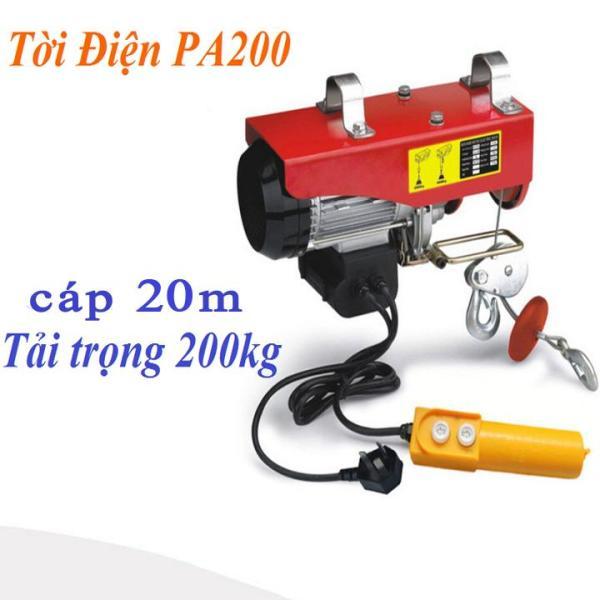 máy tời điện PA200 tải 200kg cáp 25 mét