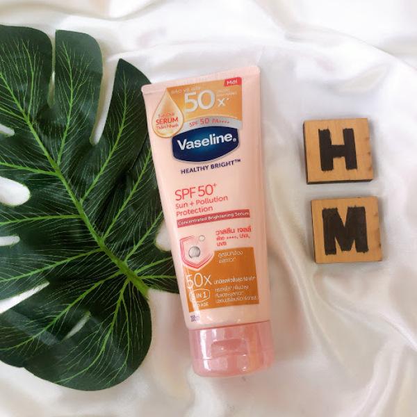 Sữa Dưỡng Thể  Vaseline 50x  Serum Chống Nắng Dưỡng Trắng Da Gấp 50 Lần  Vaseline 50x SPF 50 PA+++ , Dưỡng Ẩm, Thấm Nhanh, Không Bết Dính, Dung Tích 200ml - Hami Cosmetics