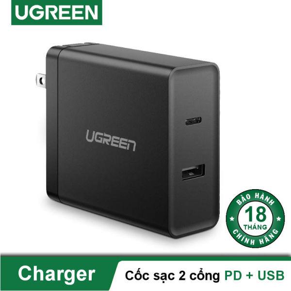 Cốc sạc nhanh 2 cổng PD và USB lên đến 45W UGREEN CD172 50457