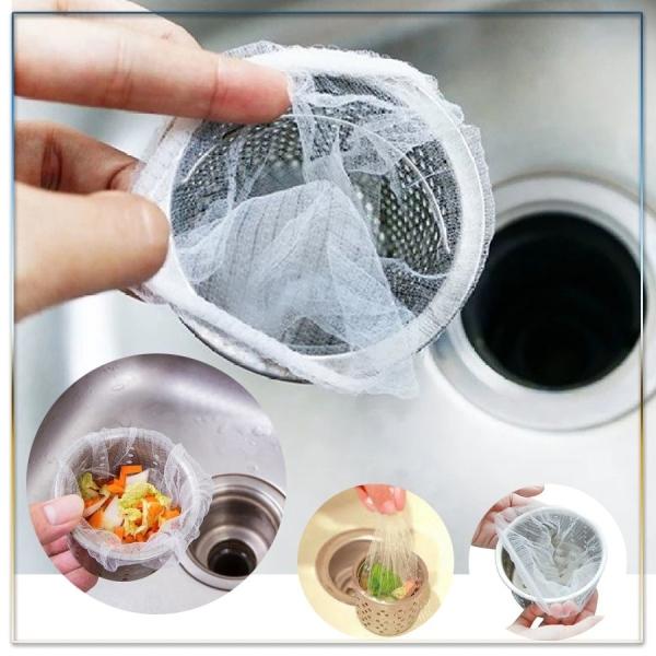 Combo 100 túi lưới lọc rác thông minh cho bồn rửa chén bát